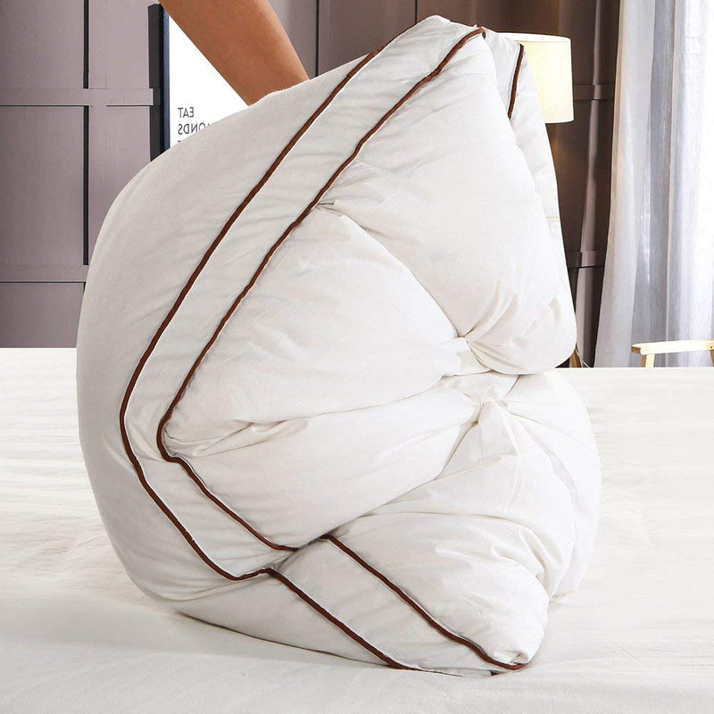 Peter Khanun 48*74cm Brand Design 3D Bread White Duck/Goose Down Feather Pillow Standard Antibacterial Elegant Home Textile 014