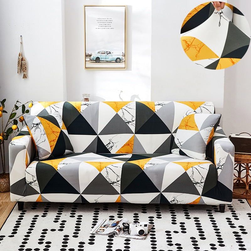 Stretch Sofa Cover Slipcovers Elastic All-inclusive Couch Case for Different Shape Sofa Loveseat Chair L-Style Sofa Case
