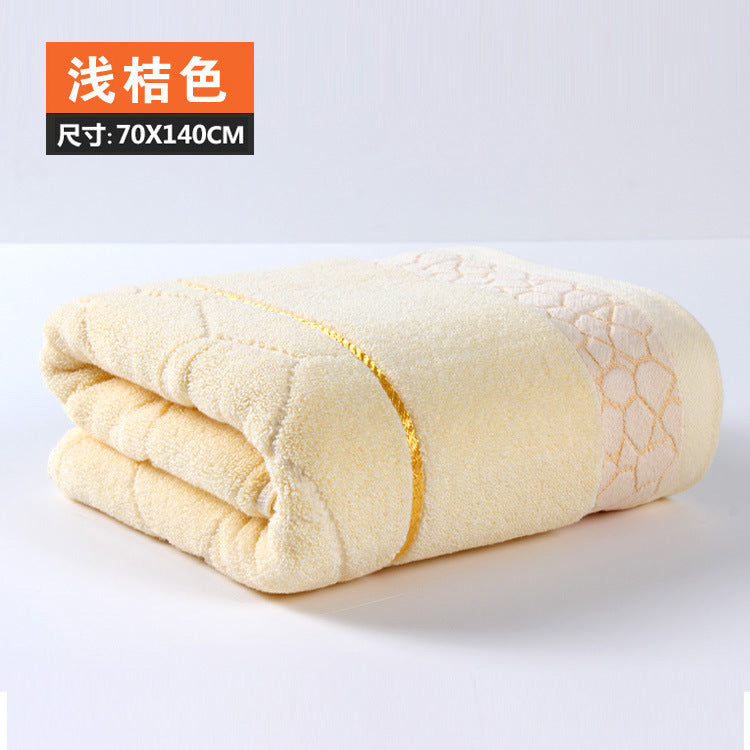 140x70cm Bath Towel 100% Cotton towel 6 Colors Avaliable Cotton Fiber Natural Eco-friendly Embroidered Bath Towel
