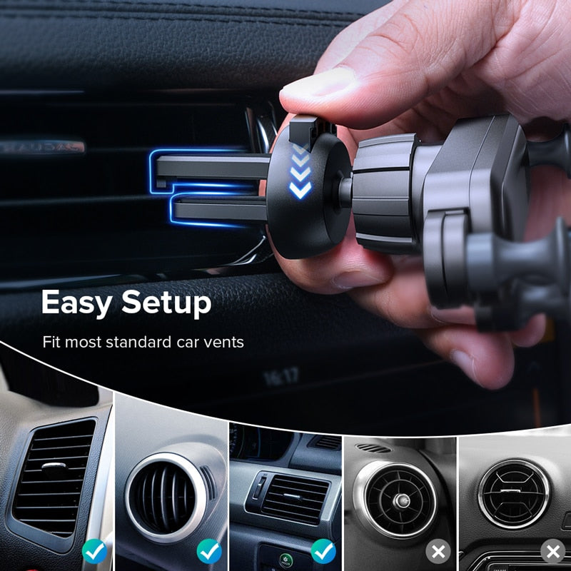 GETIHU Gravity Car Phone Holder Air Vent Clip Mount No Magnetic Mobile Support Cell Stand For iPhone X Xiaomi Smartphone In Car