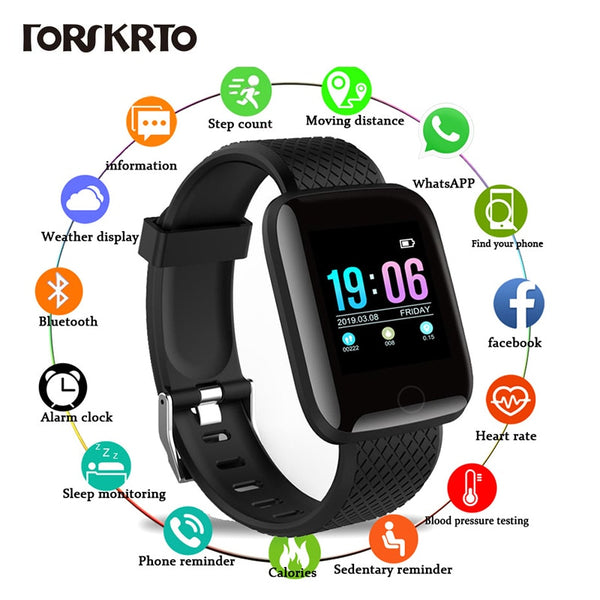 D13 Smart Watches 116 Plus Heart Rate Watch Smart Wristband Sports Watches Smart Band Waterproof Smartwatch Android