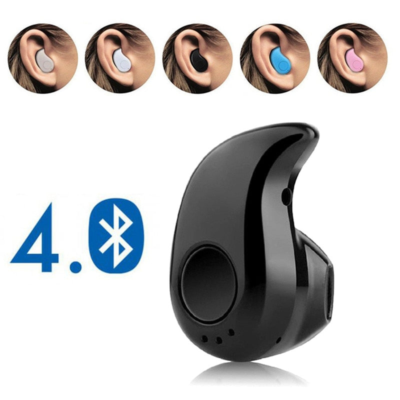 Mini Wireless Bluetooth Earphone in ear Sports Headset Earphones Earpiece with Mic for iPhone Xiaomi Samsung HTC All smartphones