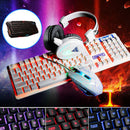 4Pcs Home Mechanical Wired USB Keyboard  Illuminated Gaming Mouse Pad Accessories Set Computer Desktop Backlight Headset