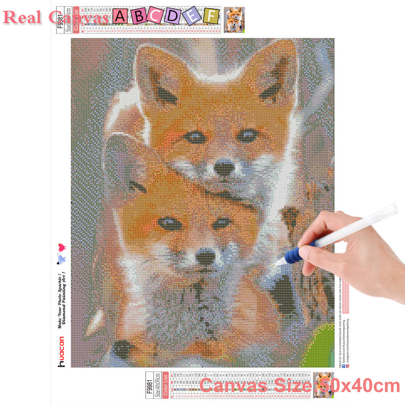 HUACAN 5D Diamond Painting Full Display Little Dog Diamond Embroidery Full Square Cross Stitch Rhinestones Decor Home Gift