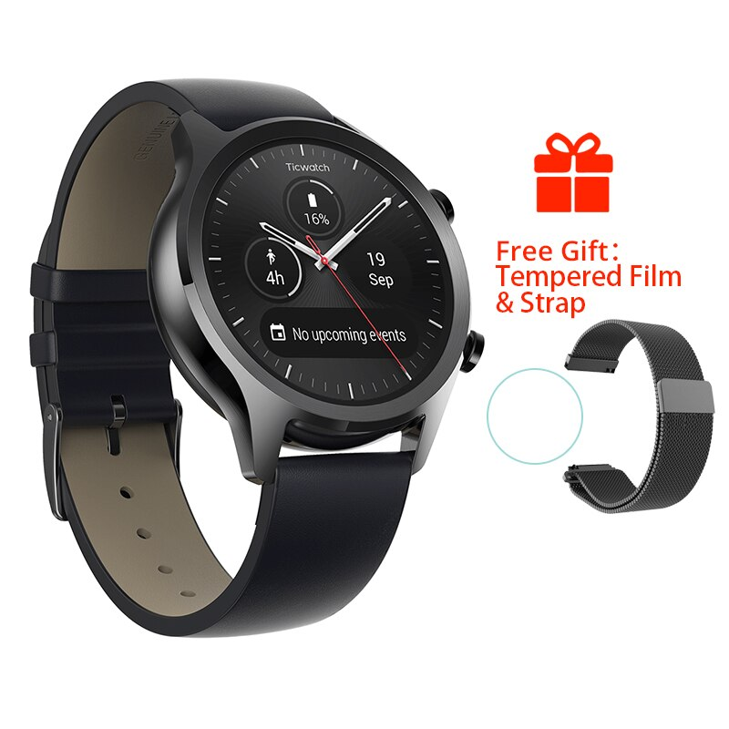 Original Ticwatch C2 Smartwatch Wear OS by Google Built-in GPS Heart Rate Monitor Fitness Tracker Google Pay Free Gift - Strap