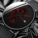 Men's Fashion Watch Stainless Steel Mesh Belt Calendar Quartz Sport Watches Business Casual Watch for Man Clock Montre Homme