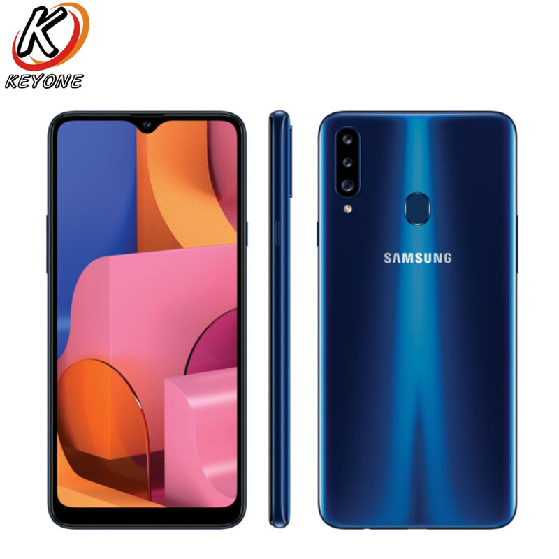 "New Samsung Galaxy A20s A207F-DS Mobile Phone 6.5"" 3GB RAM 32GB ROM Octa Core Triple Rear Camera 13.0MP+8.0MP+5.0MP Fingerprint"