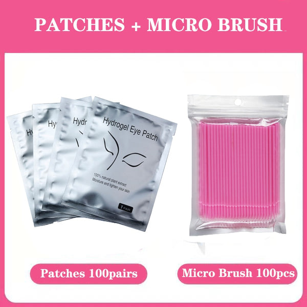 25/100 pairs/lot Eye hydrogel Patches for Eyelash Extension Eyelash Pads Silver Under Eye Non-woven Makeup All Building Lashes