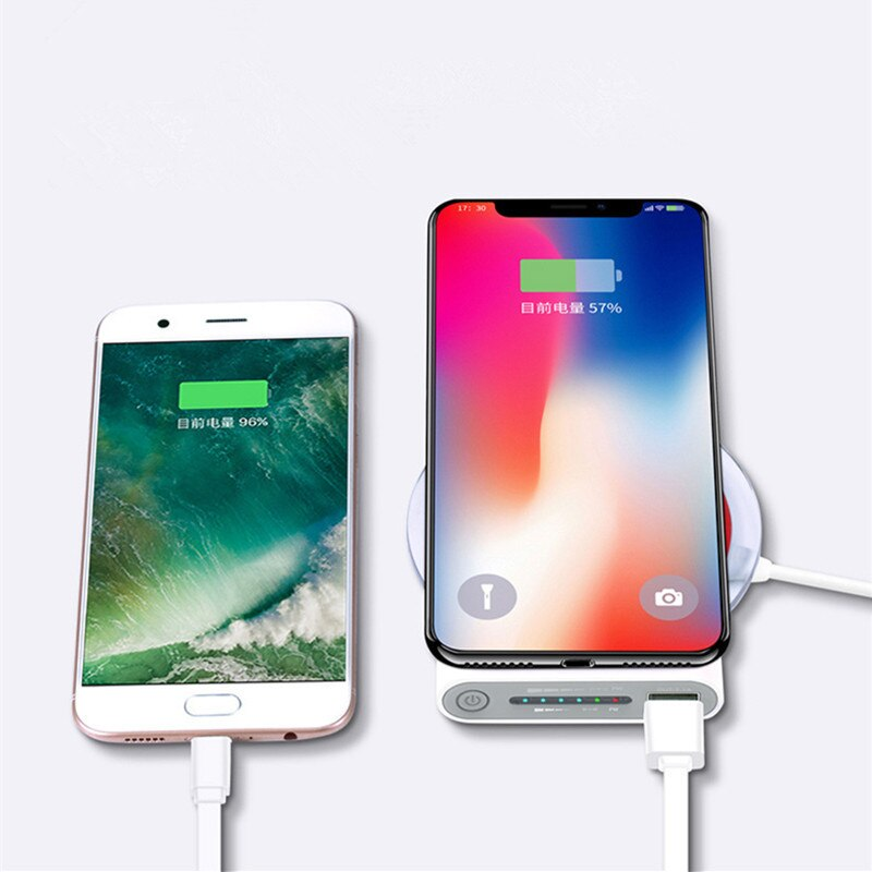 30000mah Wireless power bank  for iPhone X Xs MAX XR 8 QI wireless charger power bank for Samsung S8 S9 Note 9 8