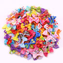 20PCS Cute Handmade Small Puppy Dog Hair Bows Pet Dog Hair Accessories Flower Bows Dog Grooming Bows for Small Dogs Pet Products