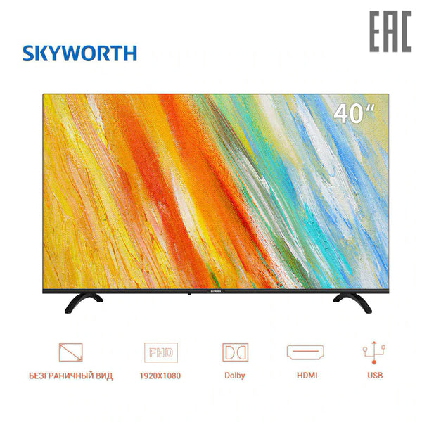 "TV sets 40"" Skyworth 40E20 FullHD  led clear TV FHD dobly  dvb dvb-t dvb-t2 digital 4049InchTV"