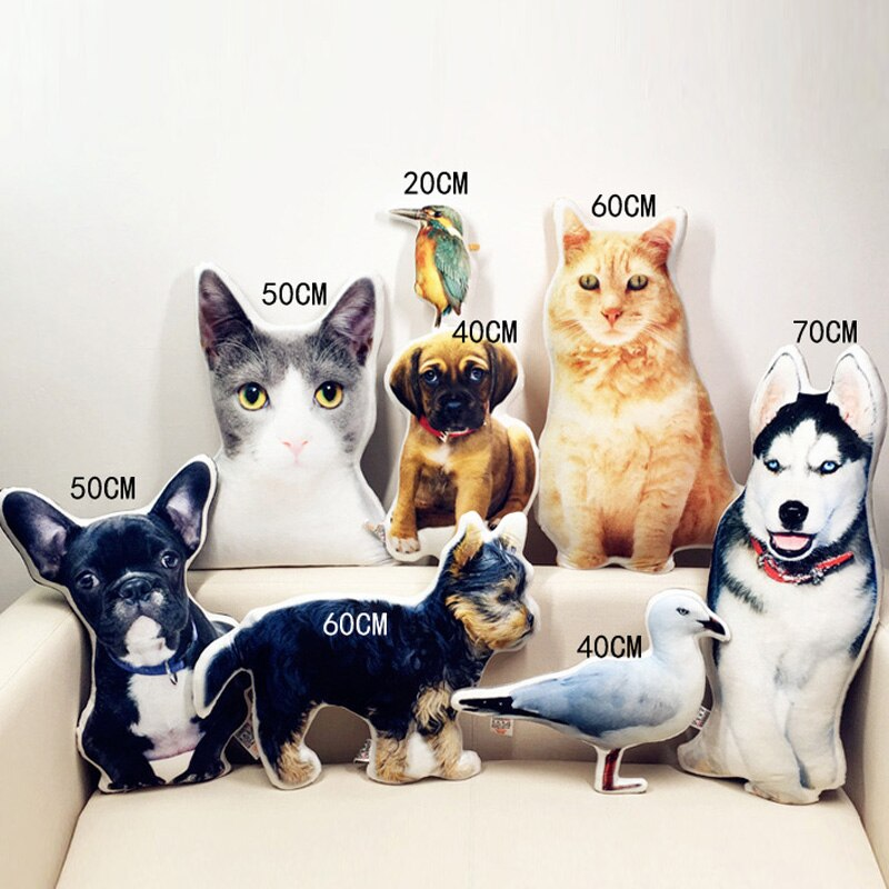 New Hot Photo customization DIY dog Cushion Plush Toys Dolls Stuffed Animal Pillow Sofa Car Decorative Creative Birthday Gift