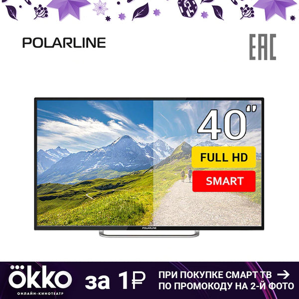 "TV 40"" POLARLINE 40PL11TC-SM FullHD SmartTV 4049inchTV dvb dvb-t dvb-t2 digital"