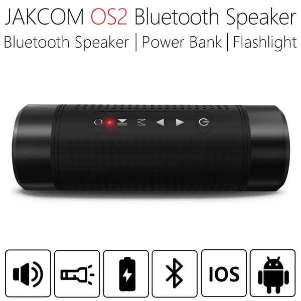 JAKCOM OS2 5200mAh Outdoor Wireless Bluetooth Speaker Waterproof Column Bicycle Portable Music Bass Speaker LED light Power Bank