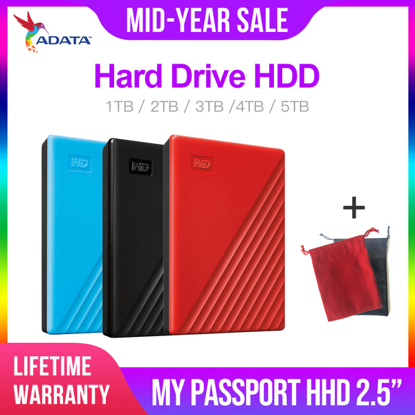 Western Digital My Passport hdd 2.5 USB 3.0 SATA Portable HDD Storage Memory Devices External Hard Drive Disk 2TB 4TB
