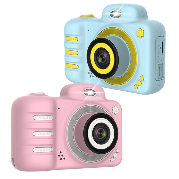 Camera Gifts Video With Memory Card DSLR Camcorder Dual Lens Cartoon Kids Toys Shockproof Mini Digital ABS 2.4 Inch Screen