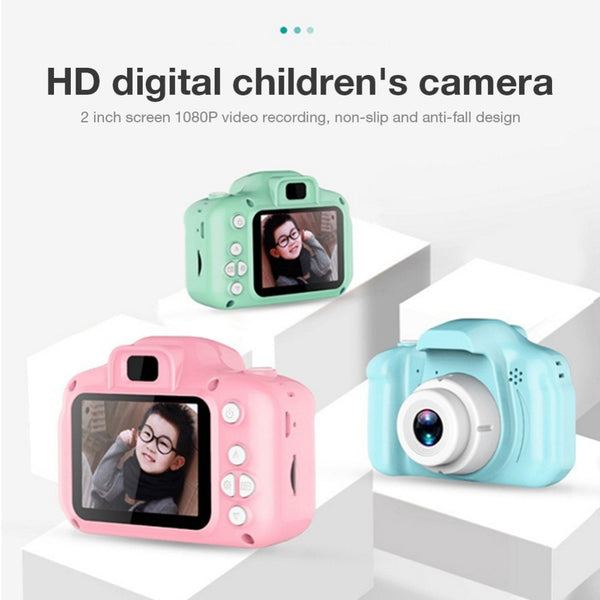 HD Screen Chargable Camera Outdoor Digital Mini Camera Kids Cartoon Cute Camera 2 Inch Photography Props For Child Birthday Gift