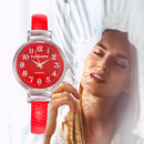 Luxury Ladies Brand Bracelet Women Watches Fashion Red Leather Quartz Clock Wristwatch Jewelry Accessories horloges vrouwen 시계