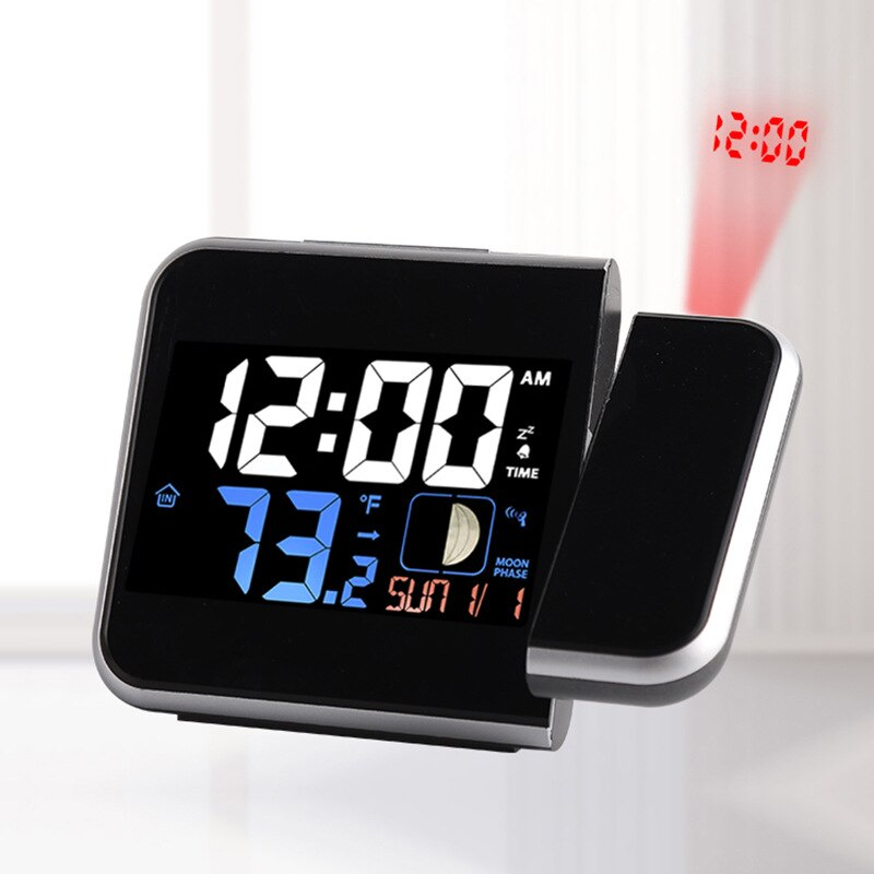With Numbers Radio Controlled Clock American-Style Multi-functional Projection Electronic Clock Top Grade Simple Office Electron