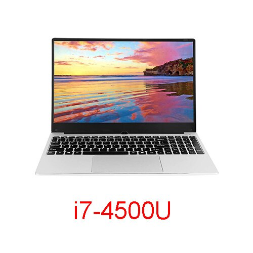 VORKE Notebook 15 Ultrathin SSD Laptop Intel Core i7-4500U  i5-8250U 15.6'' Screen 1920*1080 Windows 10 8GB DDR3 256GB SSD