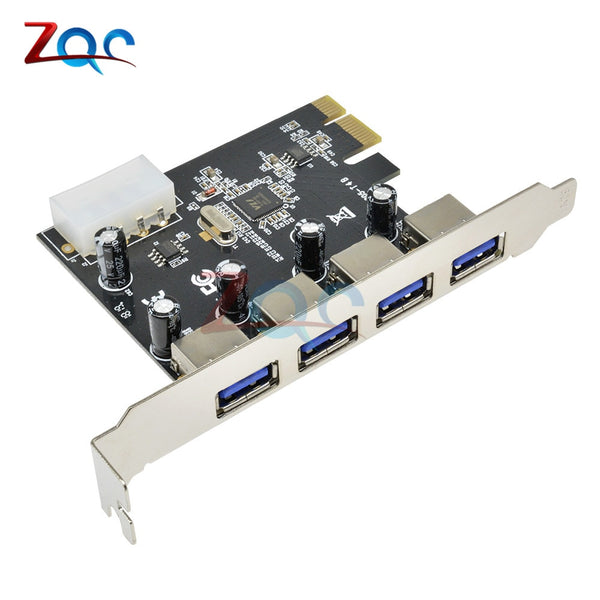 4 Port PCI-E to USB 3.0 HUB PCI Express Expansion Card Adapter 5 Gbps Speed For Desktop Computer Components