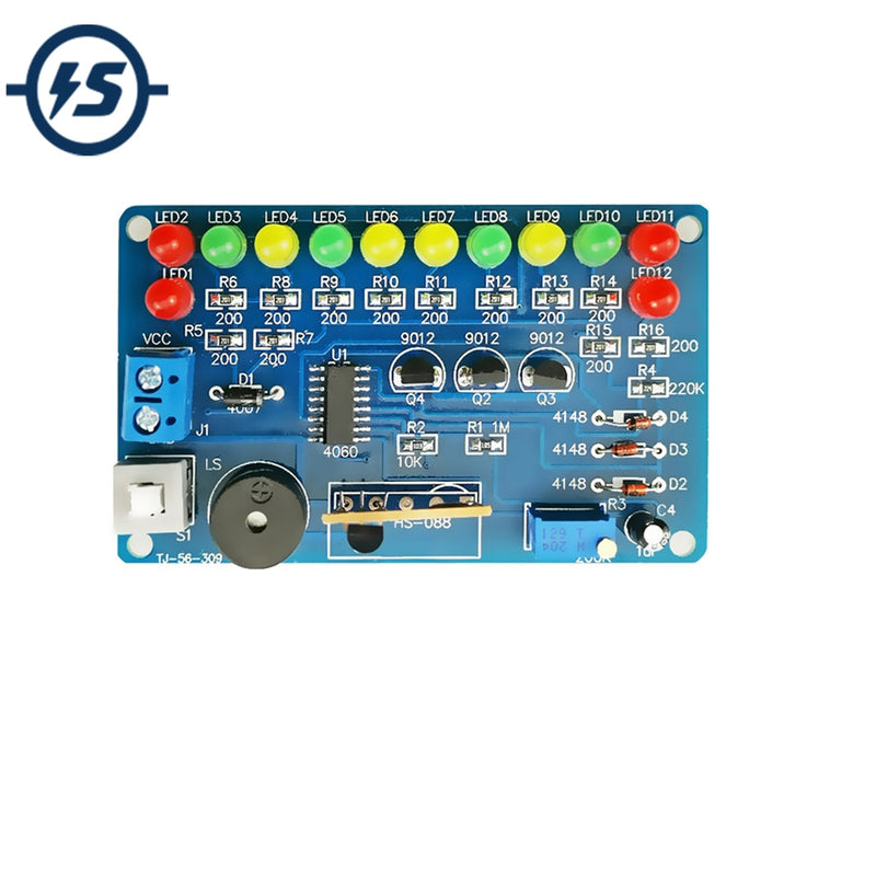 Electronic DIY Kit Music Circuit LED Flashing Module Electronic Components Suite