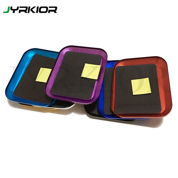 Jyrkior Multi-functional Aluminum Alloy Magnetic Screw Tray Mainboard IC Chip Electronic Component Storage Box For Phone Repair