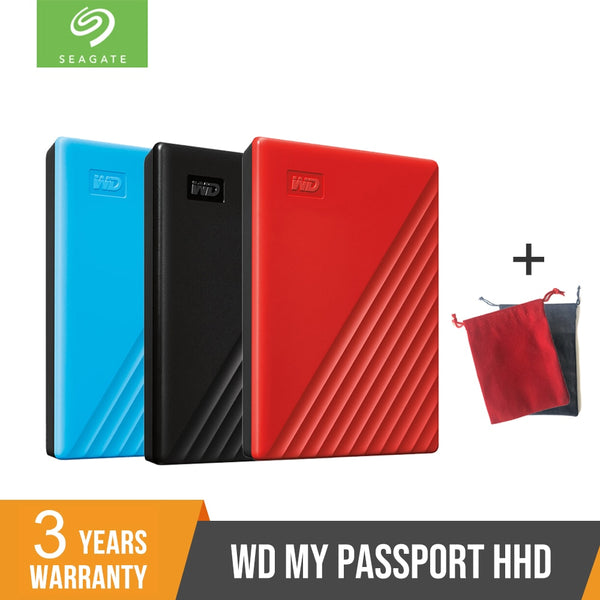 NEW WD 2TB 4TB My Passport hdd 2.5 USB 3.0 SATA Portable HDD Storage Memory Devices External Hard Drive Disk Disco Duro