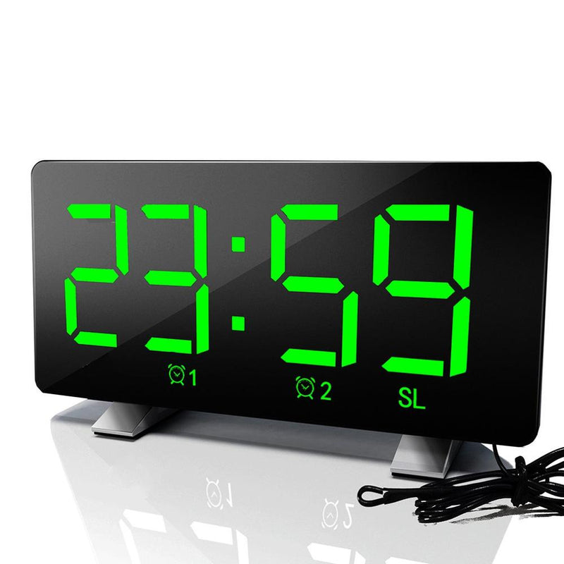 Led Radio Alarm Clock Creative Snooze Electronic Clock Desk Clock Bedroom Office Usb Charging Alarm Clock