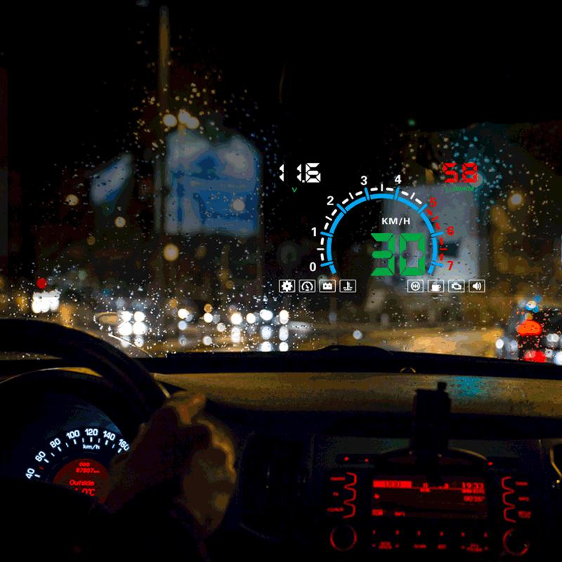 Car Speed Projector Head Up Display OBD HUD Automobile Windshield Projector Electronics Accessories OBD2 Digital Car Speedometer