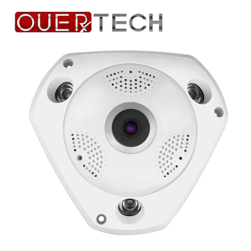OUERTECH Full view WIFI  360 Degree Two way audio Panoramic  1.3MP Day/Night WIFI Smart IP Camera  support 128g app YOOSEE