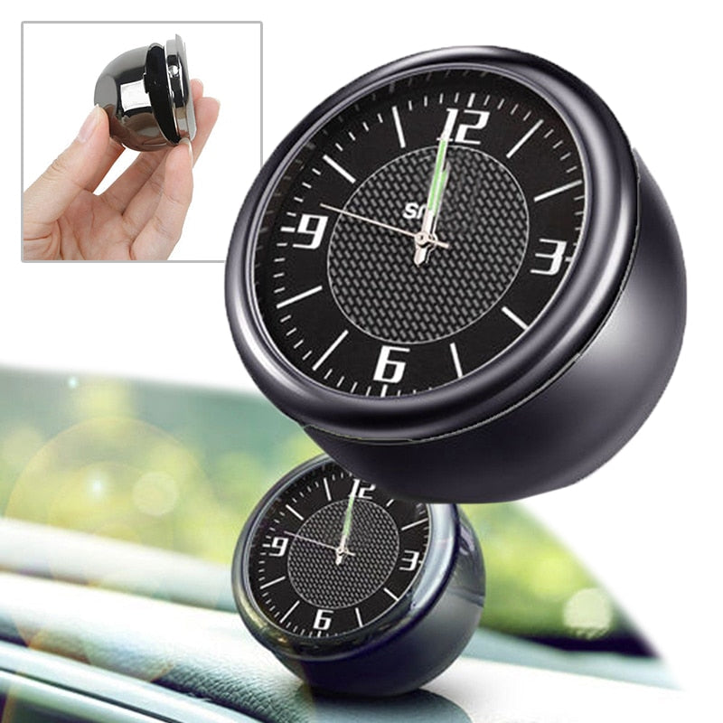 1pc Quartz Clock Simple and unique design Car Interior Ornament Luminous Digital Electronic Clock Decorative for most cars