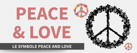 Peace and love symbole