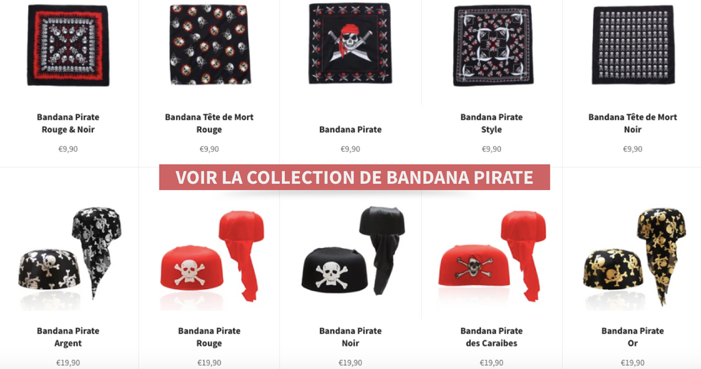 Bandanas pirate homme