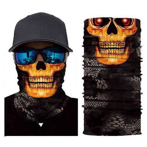 Foulard Moto<br> Tete de Mort Yeux Rouge - Bandana District
