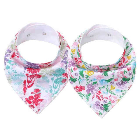 Bavoir Bandana <br> Fleurs - Bandana District