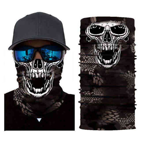 Foulard Moto<br> Skull - Bandana District