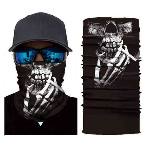 Foulard Moto<br> Squelette qui fume - Bandana District