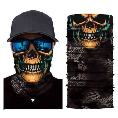 Foulard Moto<br> Tête de Mort Serpent - Bandana District