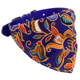 Collier Bandana Chien<br> Bleu Japonais - Bandana District
