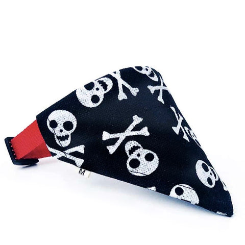 Collier Bandana Chien<br> Tete de Mort - Bandana District
