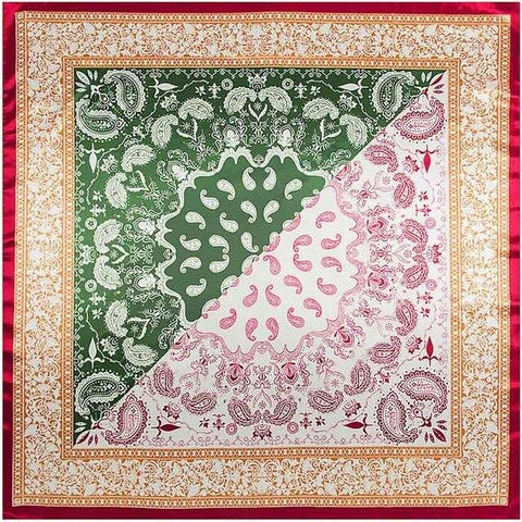 Foulard Cachemire <br> Vert - Bandana District