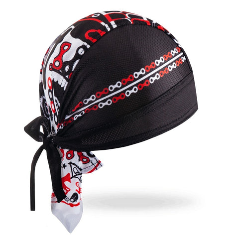 Bandana Vélo <br> Noir & Rouge & Blanc - Bandana District