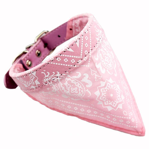 Collier Bandana Chien<br> Rose - Bandana District