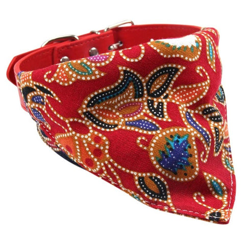 Collier Bandana Chien<br> Rouge Japonais - Bandana District