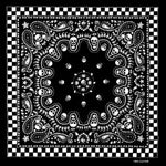 Bandana Tête de Mort <br> Damier - Bandana District