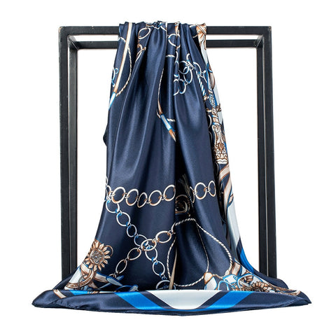 Foulard Bandana <br> Bleu Marine Royal - Bandana District