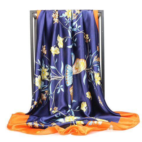 Foulard Bandana <br> Bleu Orangé - Bandana District