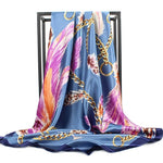 Foulard Bandana <br> Plumes Violettes - Bandana District
