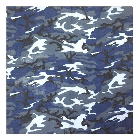 Bandana <br> Camouflage Bleu - Bandana District
